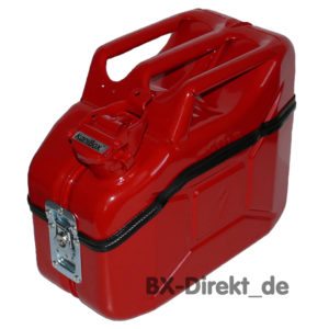 rote Brotdose und Lunch Box