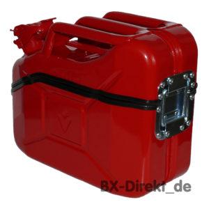 Werkzeugkiste rot Benzinkanister