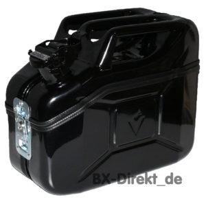 Toolbox aus einem Ersatzkanister in Schwarz