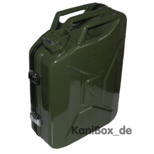 Design Koffer in Oliv Grün Dieselkanister