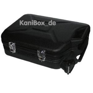 schwarzer Benzinkanister Vintage Koffer