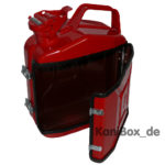 Vintage classic car DIY Jerrycan red rot