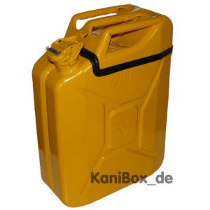 gelbe KaniBox TopFlap Benzinkanister in Gelb