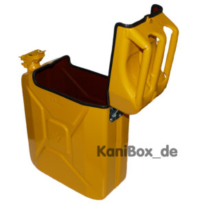 yellow Jerrycan waste box