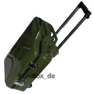 Armeekanister Koffer Trolley in oliv