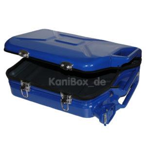Trolley Case aus einem blauen Ersatzkanister