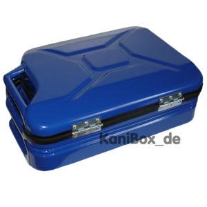 blauer Kanisterkoffer KaniBox