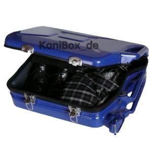 Koffer aus Ersatzkanister in Blau