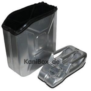 silberfarbige Transportkiste KaniBox