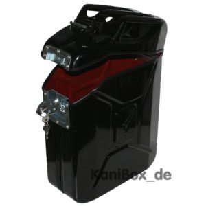 schliessbare Transportbox schwarzer Kanister