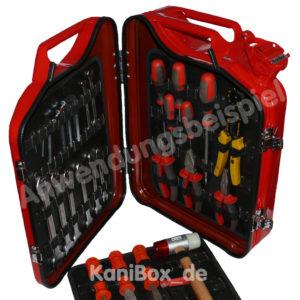 Werkzeugbox aus einem DIY Benzinkanister