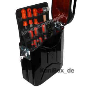 DIY Benzinkanister Werkzeugkiste