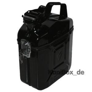 abschliessbare Benzinkanister Box in Schwarz