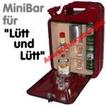 rote Benzinkanister MiniBar Kanister-Bar