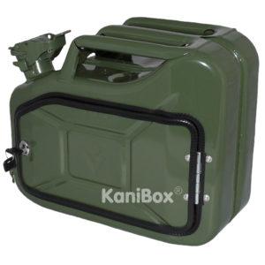 abschliessbare KaniBox in klassischem oliv-grün