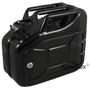 schwarze Minibar aus 10 Liter Kanister