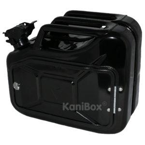 schwarze 10 Liter Ersatzkanister Staubox