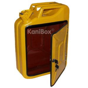 abschliessbare KaniBox in Gelb
