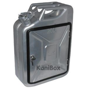 abschliessbare KaniBox silberfarbig
