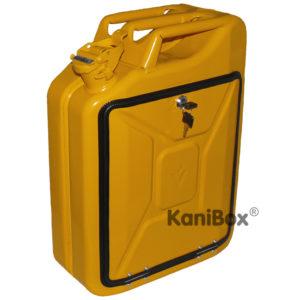 Tankkanister in Gelb als Geschenkidee