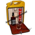 Geschenkidee gelbe Kanister-Bar