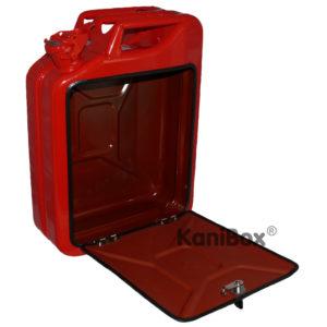 Benzinkanister in Rot zum DIY MiniBar Ausbau