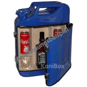 Kanister Bar für Mix-Getränke in blau