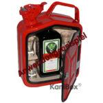 rote Benzinkanister MiniBar als Geschenk