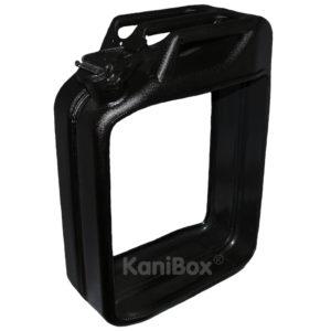 KaniBox als Holzkorb in schwarz