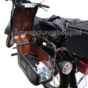 Moped Seitenkoffer aus einem Benzinkanister