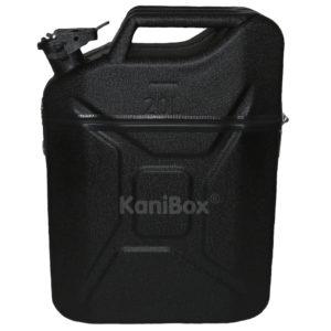 schwarze KaniBox Top mit Staufach im Deckel