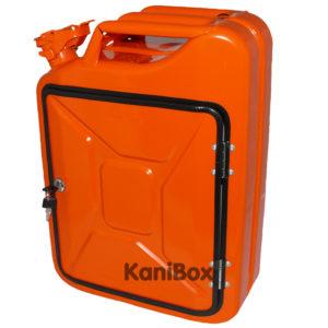 orangefarbener Benzinkanister als DIY Geschenkidee