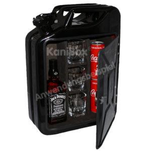 Dieselkanister Whiskey-Bar in schwarz