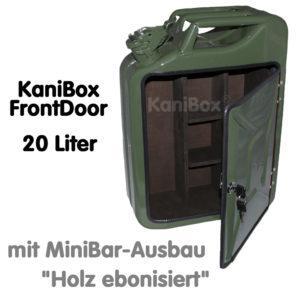 20er FrontDoor MiniBar-Ausbau Holz ebonisiert