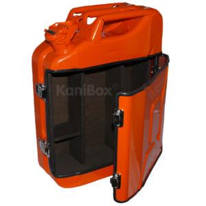orange Kanister MiniBar als Geschenkidee
