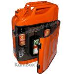 Kanister Bar für Jägermeister in Orange