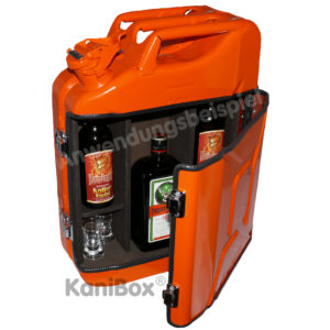 Kanister Bar für Jägermeister in Orange