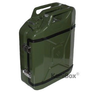 KaniBox Benzinkanister zum Ausbau als Mini Whiskey Bar oliv grün
