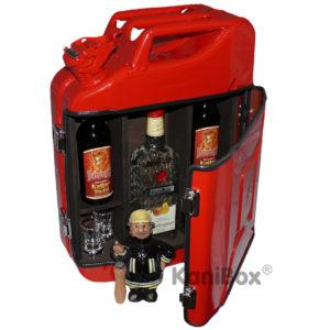 Geschenk für Feuerwehr rote KanisterBar