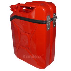 rote Transportbox und Staukiste