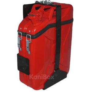 Staubox in Feuerwehr Rot