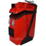 Transportkiste in Feuerwehr Rot
