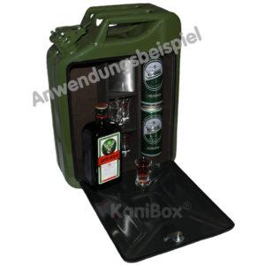 Armeekanister MiniBar für Jägermeister