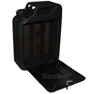 Retro Kanister-Bar in schwarz matt