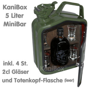 Totenkopf Mini-Bar Schädel