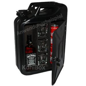 schwarz matte Kanister Bar