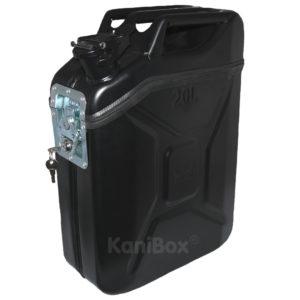 Benzinkanister Seitenkoffer schwarz matt