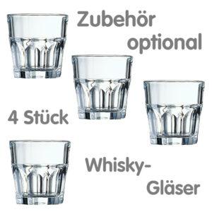4 Whiskygläser als KaniBox Zubehör