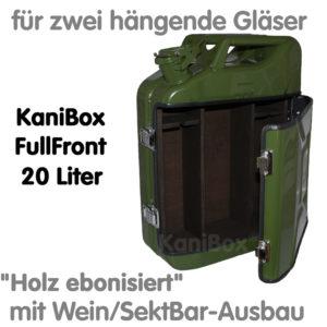 20er FullFront WeinBar-Ausbau Holz ebonisiert