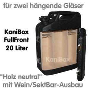 20er FullFront WeinBar-Ausbau Holz neutral